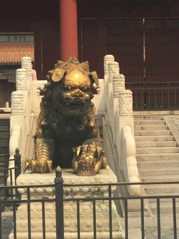 China scary lion