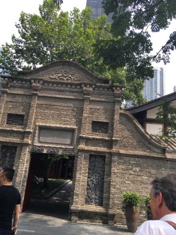 Entrance chengdu temple house