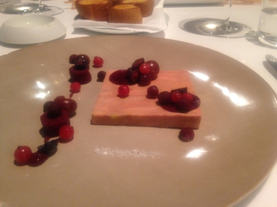 Fois gras and berries