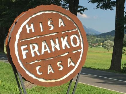 Hisa Franko sign post