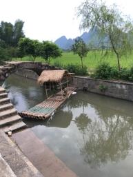 Yang bamboo boat