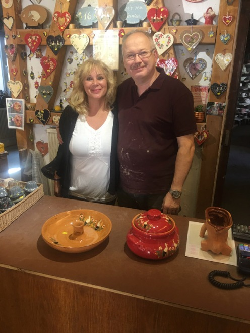 me and pottery owner