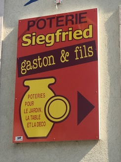 pottery sign