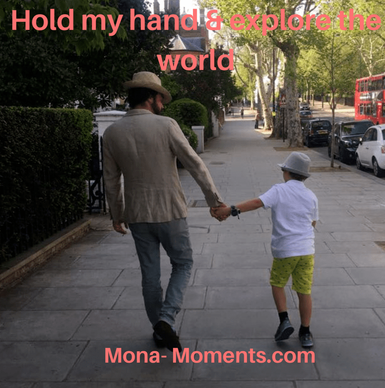 Hold my hand explore the world
