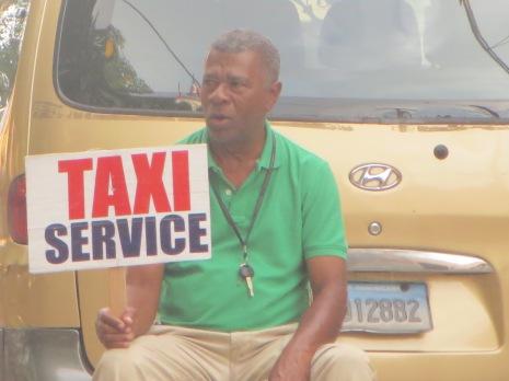 Taxi in Domingo.