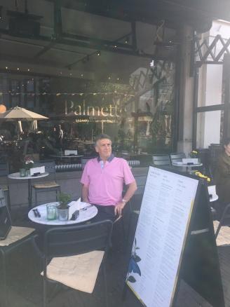 Cafe in the square Delft