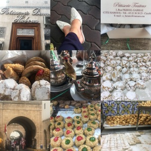 Our souk shopping and pastry eating in Habous