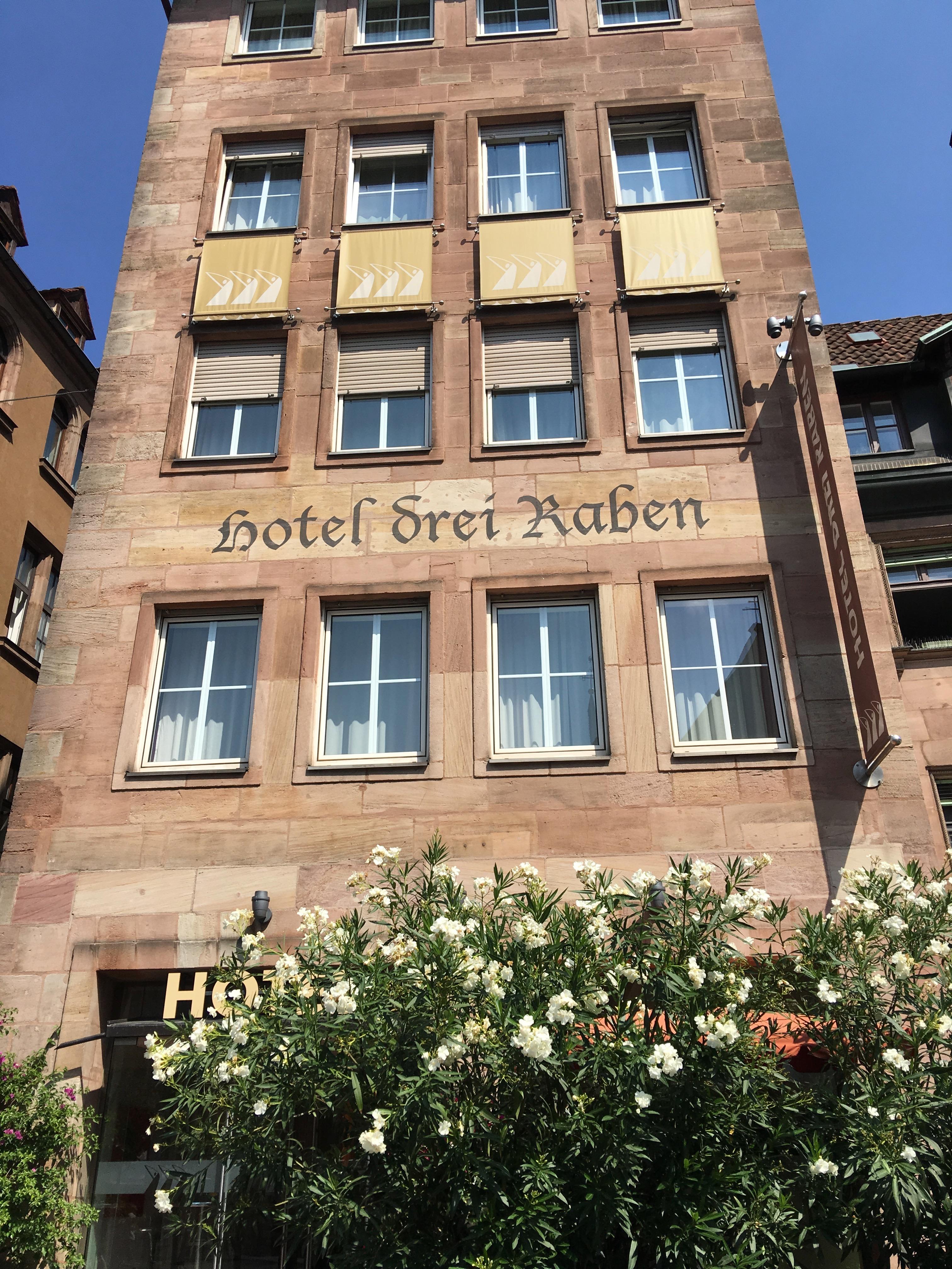 Hotel Drei Raben or the 3 Ravens. Nuremberg