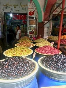Olive market in the Habous quarter Casablanca